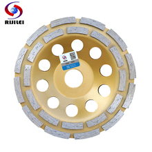 6inch 150mm Double row Diamond Grinding Wheel Disc Bowl Shape Grinding Cup discs Concrete Granite Stone Ceramics Tools MX36 100mm diamond grinding wheel disc bowl shape grinding cup concrete granite stone ceramics tools