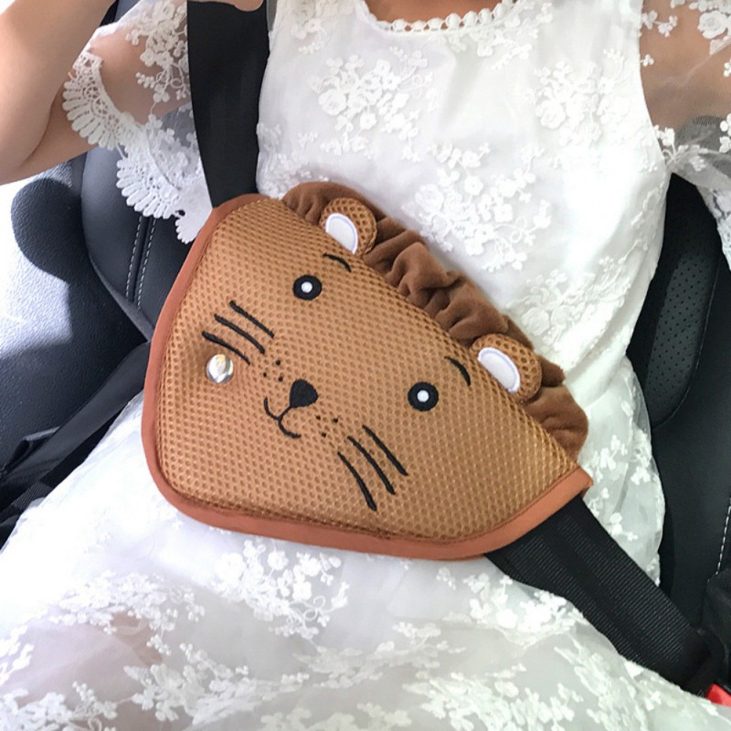 Kids Protection Seat Belt Adjuster Children Safety Belt Covers With Cute Animal Pattern