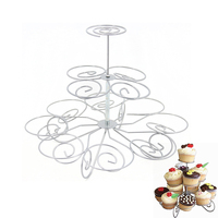 13 23 Cups European Style Multifunction Christmas Tree Shape Birthday Party Cupcake Stand Iron 4 Tier