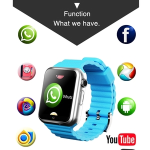 Image 2 - Children Tracker 3G Smart Watches Wifi GPS LBS Location SD Memory Card WhatsApp Facebook Play Music Tracking Child Clock V5W/V7W