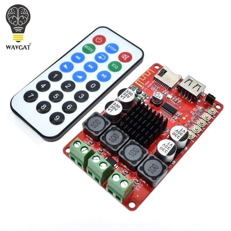 WAVGAT TPA3116 50 W + 50 W Bluetooth receptor de Audio Digital tablero amplificador tarjeta TF U disco FM REPRODUCTOR DE Redio con control remoto