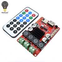 WAVGAT TPA3116 50W+50W Bluetooth Receiver Digital Audio Amplifier Board TF card U disk player FM Redio With Remote control