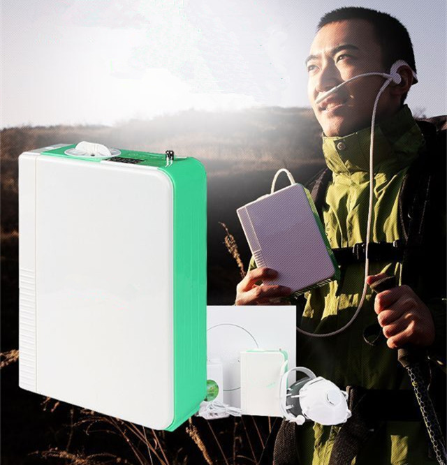 Portable Li Battery Oxygen Concentrator CE Approved PSA Technology DC Mini Oxygen Generator Outdoor Use Oxygen