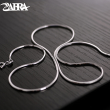 Collana del choker Collana di Gioielli da Uomo 45 cm 1.5mm di Alta Polacco Moda Steampunk 925 Sterling Silver Collana Lunga Del Serpente catene