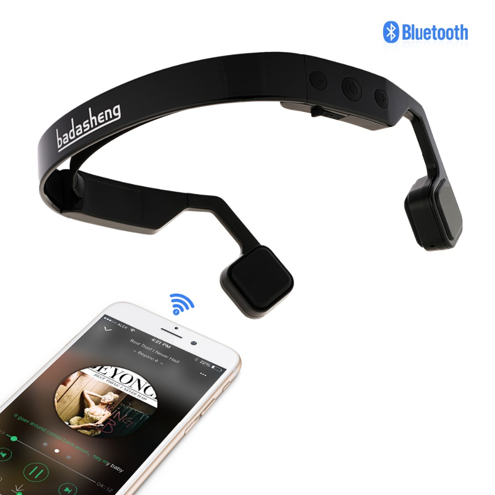 Bone Conduction Bluetooth Stereo Headset Sports earphone Headphones with microphone Hearing aid headphone for old man s wear bluetooth 4 0 wireless headset sports bone conduction earphone headphones ear hook stereo with mic with box