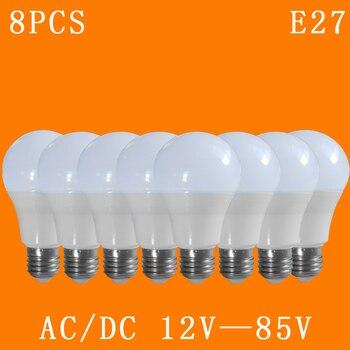 8pcs/lot E27 Led Lamp AC/DC 12v,24v,36v,48v, 3w/5w/7w/9w/12w/15w Lighting Domestic LED Bulb Cool White Light Aluminum Board
