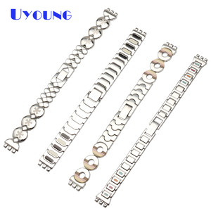 Image 2 - Latest girls student stainless steel bracelet 12mm for swatch LK258G LK373G LB160G LK375G Small size heart shaped watch strap