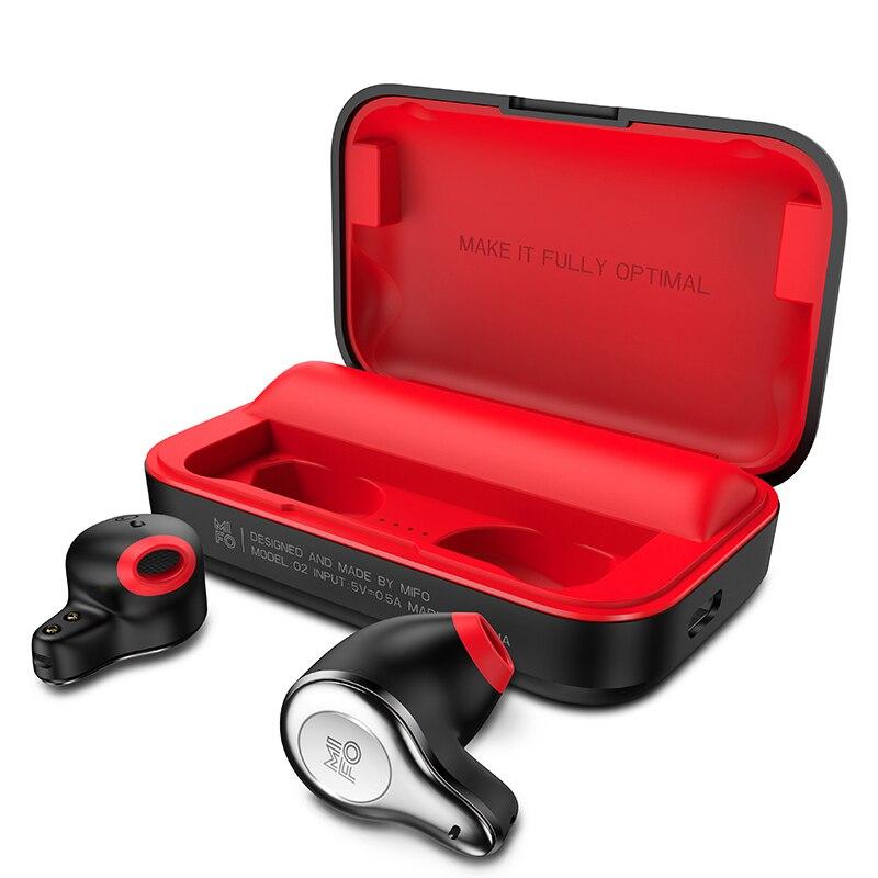 Mifo TWS 5.0 Verdadeiro Controle de Toque Esporte Fone De Ouvido Estéreo Baixo Fones De Ouvido Fones de Ouvido Bluetooth Sem Fio com Caso De Carregamento