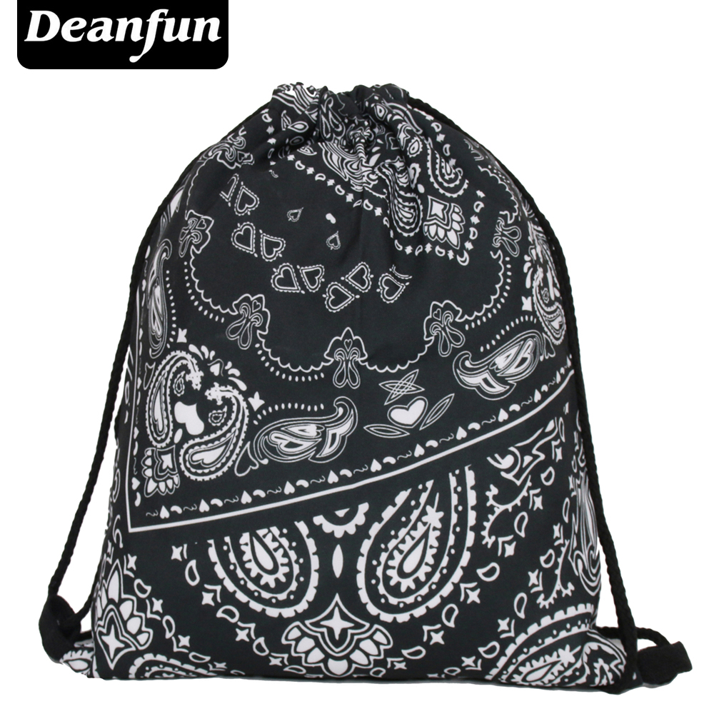 Deanfun Bag Ladies 3D Printing Escolar Backpack Travel Softback Feminina Mochila Drawstring Bag S34 polygon wolf 3d printing fashion women party bolsa feminina drawstring bag travel backpack mochila man s bags