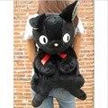 O envio gratuito de varejo 25 inch Japão Anime Kikis Service Delivery JIJI CAT Plush backpack macio saco de escola de pelúcia preto 1 PC