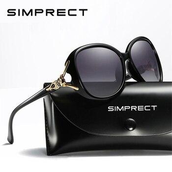 SIMPRECT 2019 Big Square Sunglasses Women Polarized UV400 High Quality Oversized Sun Glasses Retro Oculos De Sol Feminino YJ0437