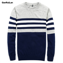 Sweater Men 2018 New Arrival Casual Pullover Men Autumn Round Neck Patchwork Quality Knitted Brand Male Sweaters B0275