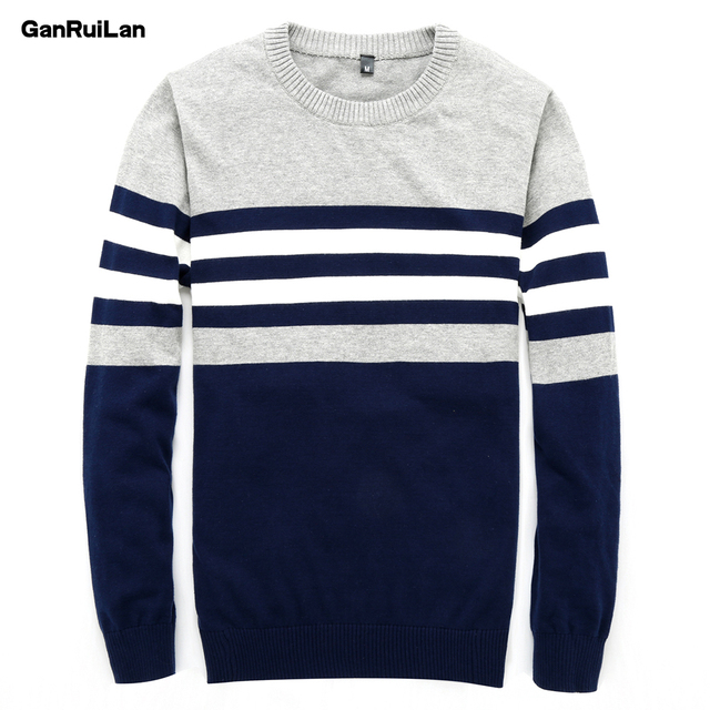 Sweater Men 2018 New Arrival Casual Pullover Men Autumn Round Neck Patchwork Quality Knitted Brand Male Sweaters B02745
