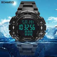 100m resistente à água dos homens esportes relógios boamigo marca pedômetro calorias led digital relógios de natação reloj hombre