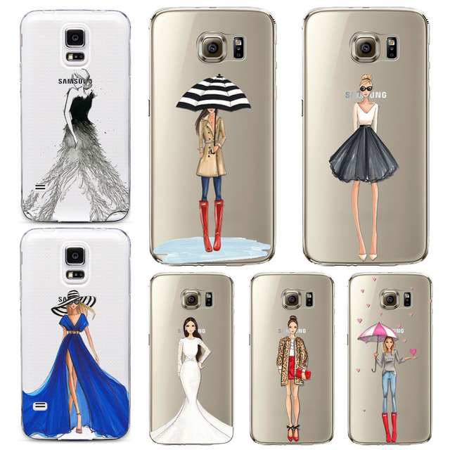 fashion cool girl case for samsung galaxy s7 s7edge s6 edge plusfashion cool girl case for samsung galaxy s7 s7edge s6 edge plus s6edge s5 transparent clear tpu back cover hot selling 25 style