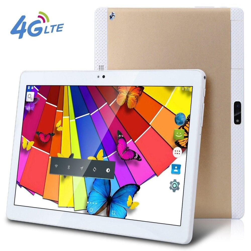 Nouveau 10.1 pouces 4G tablette PC métal tablette PCS Octa Core tablette 32 GB ROM double caméra WIFI GPS Android 6.0 double SIM 10