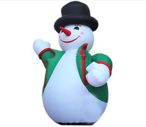 X164  5m H Inflatable snowman fo Christmas festival decoration,inflatable snow globe inflatable inflatable christmas snowman