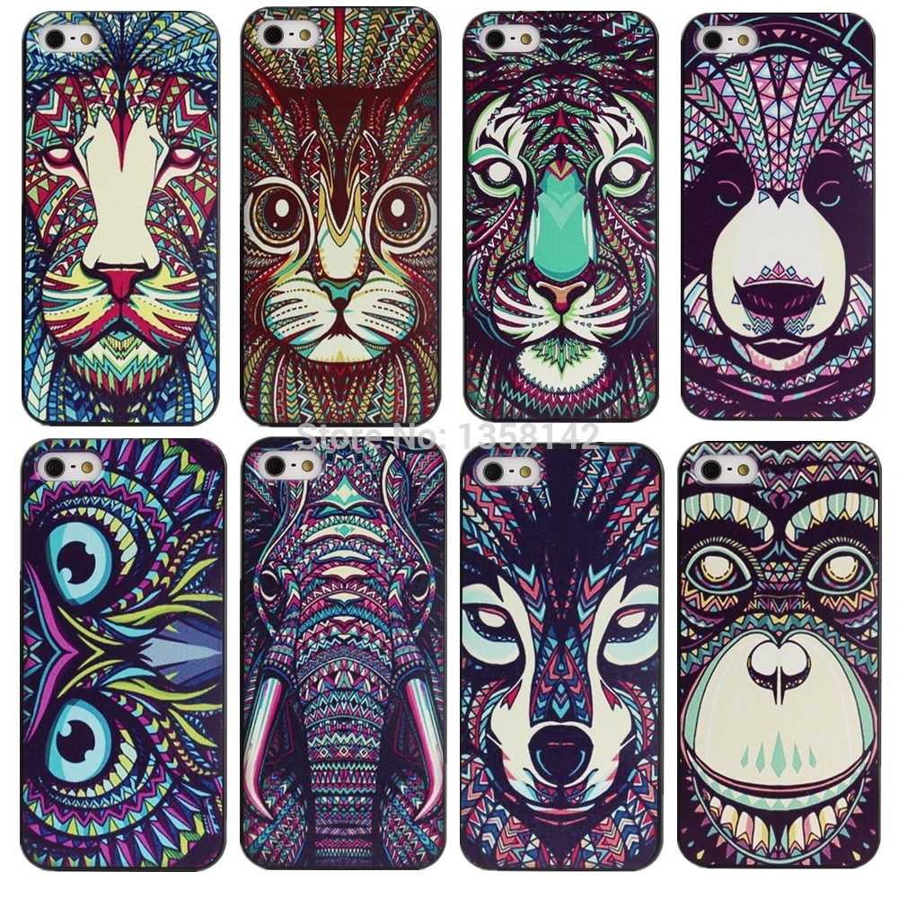 new concept 3be49 96072 US $0.79 39% OFF|Luxury 3D Printing Animal Case For Apple iPhone 5 5S SE  Hard Cases for iphone5S New Arrival Back Cover Skin PY-in Fitted Cases from  ...
