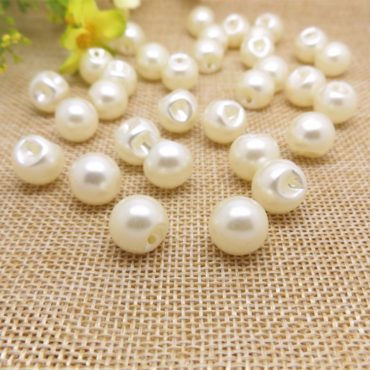 100pcs round dark eye white pearl button shirt buttoned cardigan cashmere sweater wholesale buttons B3-3