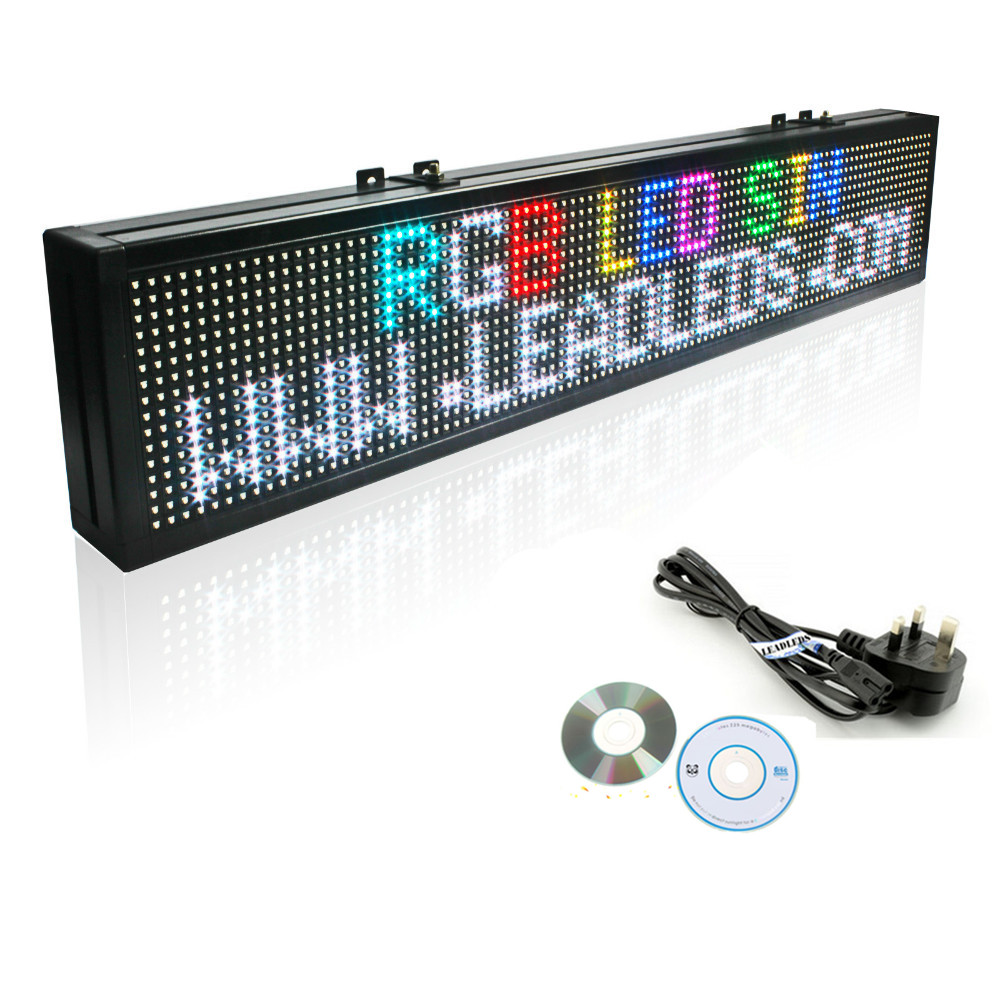 <font><b>P10</b></font> <font><b>SMD</b></font> <font><b>Led</b></font> Display Board Full Color RGB Indoor Programmable <font><b>Led</b></font> Shop Sign Improve Your Sales Performance image