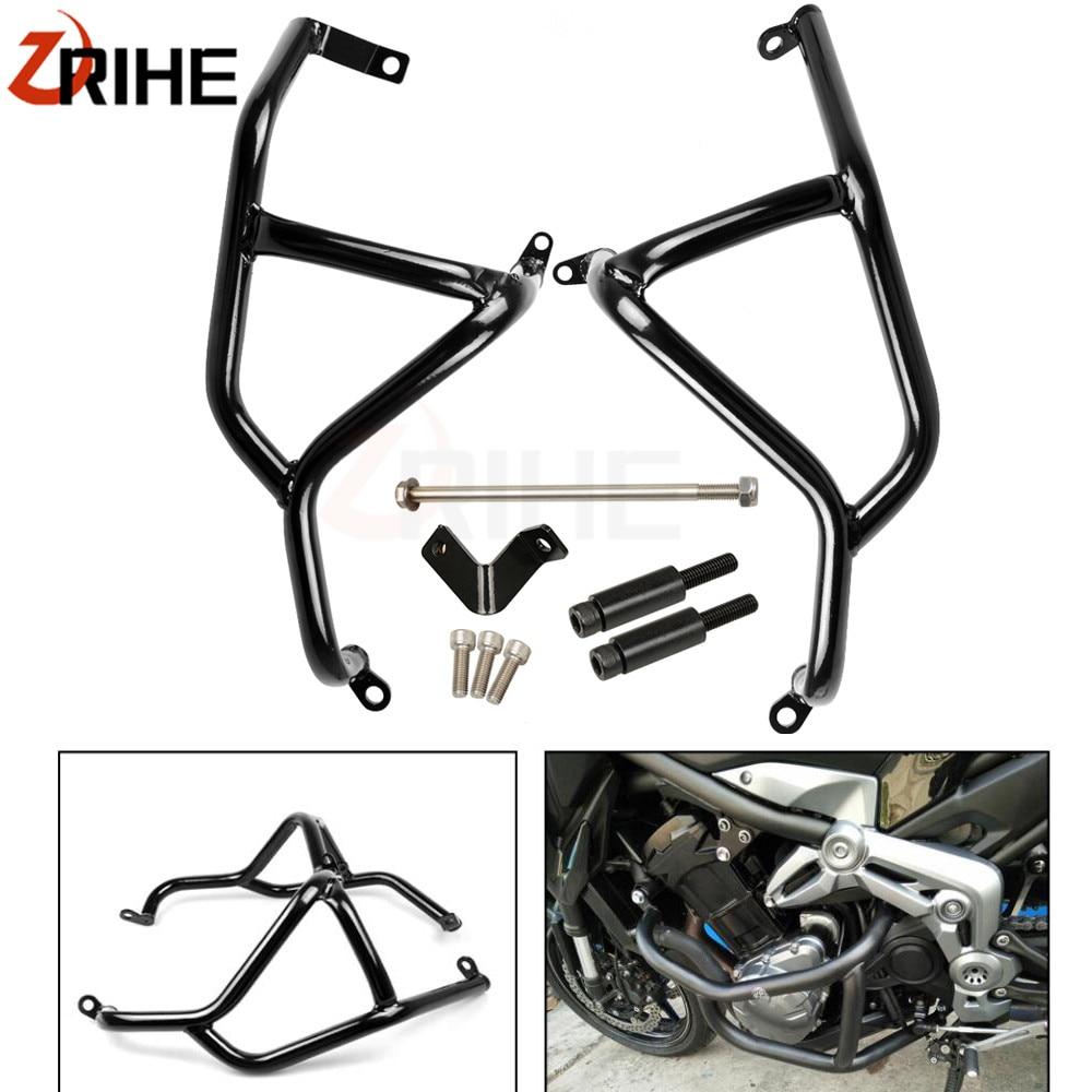 все цены на Motorcycle accessories stainless steel Engine Guard Frame Protection Crash Bar For Kawasaki Z900 Z 900 2017 2018 онлайн
