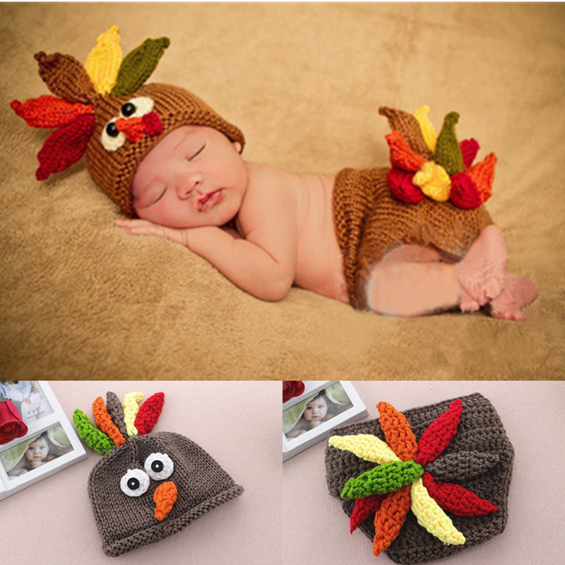 Handmade Knitting Soft Hat Pants Set Baby Clothing Accessories For 0 4 Months Newborn Baby Photography Props
