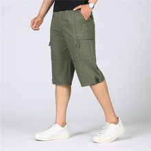 221fe58adbe Summer Casual Cotton Shorts Men Loose Military Tactical Cargo Shorts Male  Army Baggy Capris Pocket Knee-Length Plus Size 5XL 6XL