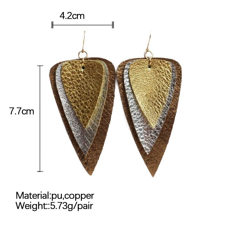 M & G PU Layered Leder Ohrringe für Frauen Trendy Erklärung Tropfen Ohrringe Modeschmuck Frauen Zubehör 2019 Neue Großhandel