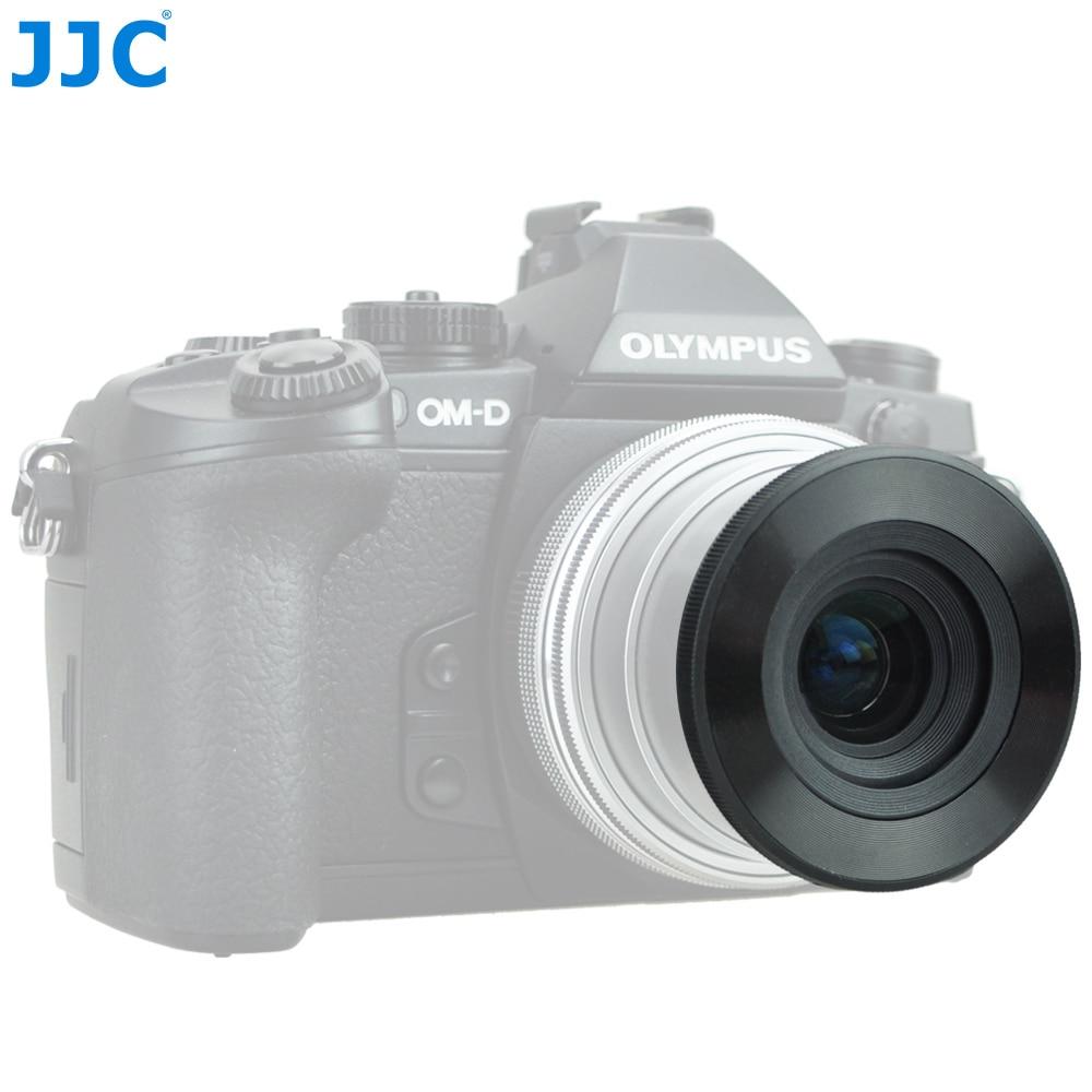 JJC Auto Lens Cap for Olympus M.ZUIKO DIGITAL ED 14-42mm f/3.5-5.6 EZ or 17mm f/2.8 for Panasonic G Vario12-32mm f/3.5-5.6 ASPH