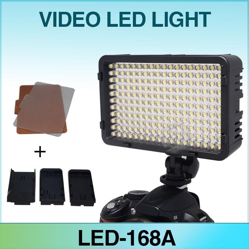 ФОТО Mcoplus LED-168 Video LED Light for Canon Nikon Pentax Panasonic Olympus & DV Camcorder Digital SLR Camera