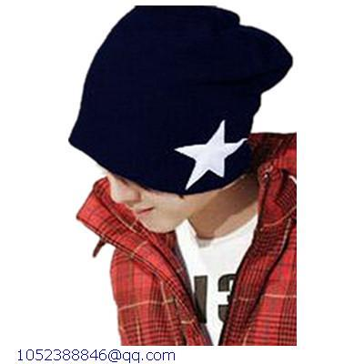 975b5e0c8 US $6.0 |Fashion Winter polo beanie Vogue Star Pattern Knitting Navy  blue/Black/Red wool cap sports Beanie hat for Mens and Women LC73105-in  Men's ...