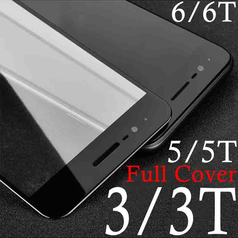 Tempered <font><b>Glass</b></font> <font><b>Case</b></font> For <font><b>oneplus</b></font> 3t 3 5 <font><b>5T</b></font> 6T 6 t Protective Glas Screen Protector On for oneplus3 oneplus3t one plus full cover image