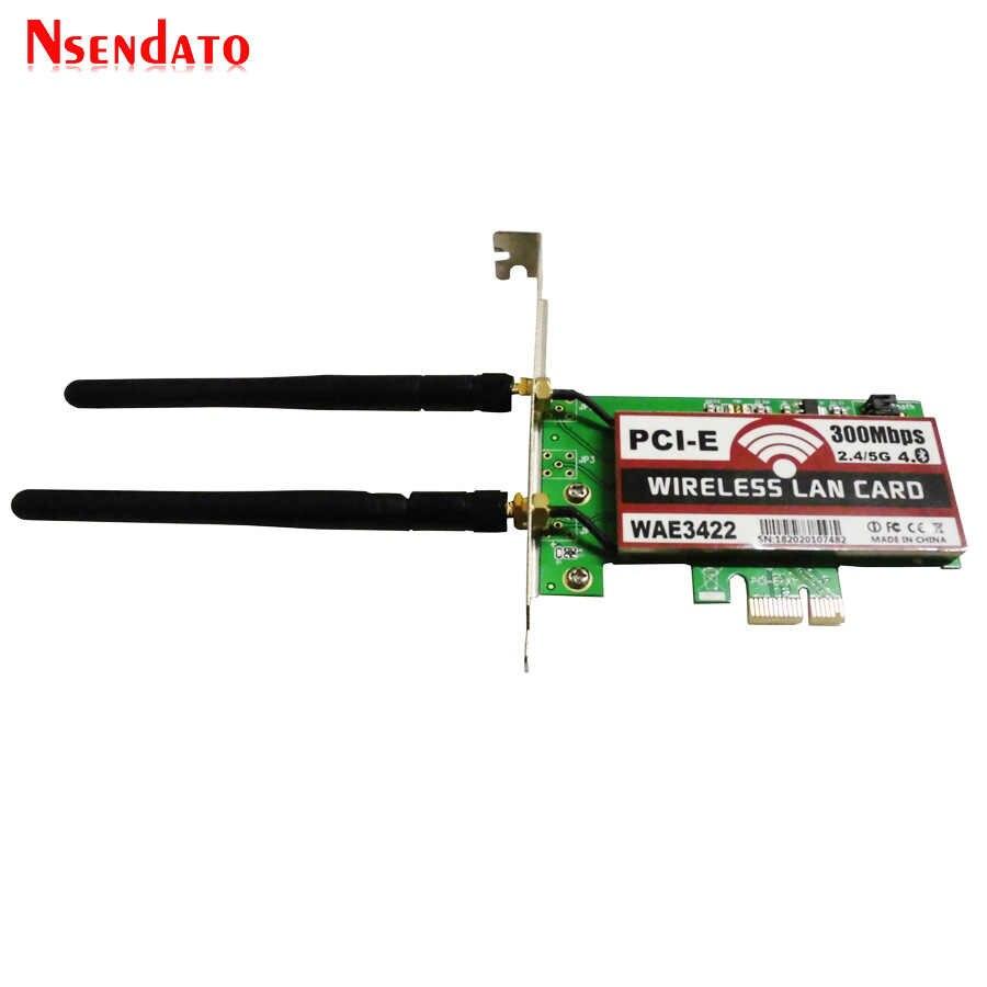 Dual-Band Bluetooth 4.0 PCI-e PCI 300 mb/s Expresscard Expresscard sieci bezprzewodowa sieć lan adapter wifi adaptateur z 2dBi anteny