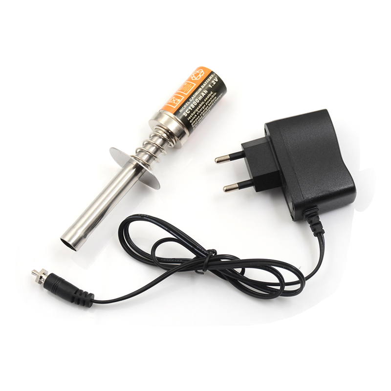 Nitro Starter Kit Glow Plug Igniter with Battery Charger for HSP RedCat Nitro Powered 1/8 1/10 RC Car