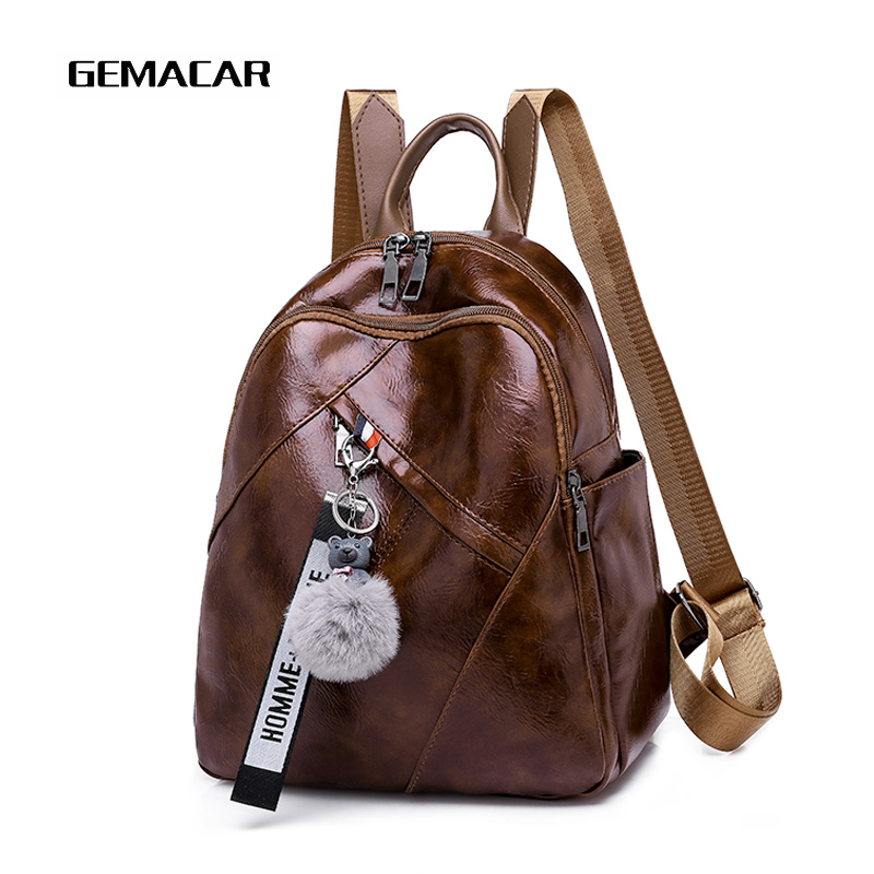 2019 Latest Girl Backpack Trend Design Mobile Phone Change Daily Necessities Female Bag Beautiful Personality Woman Backpack 1