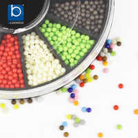 Blueness Plastic 12  Candy Colors Mixed Decorating Nail Art Beads Acrylic Adhesive Decoration for  DIY Nails Design ZP203