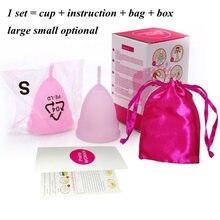 2pcs copa menstrual de silicona medica cup alternative tampons medical silicone copita reusable lady