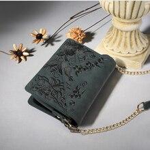 Mode frauen kleine handtasche lässig schulter messenger kleine tasche weiblichen handtasche stickerei muster grün h-9968