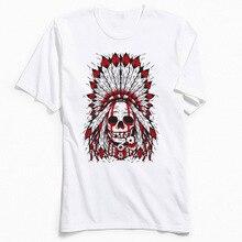 Indian Mens Tshirt New Design Skull Tops TShirt Round Collar Summer 100% Cotton Fabric T Shirts Printing Short Sleeve T-Shirt
