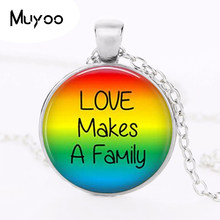 Gay Pride Necklace Same Sex Lgbt Jewelry Gay Lesbian PrideWith Rainbow Love Wins Gift Same Sex Marriage Equal Marriage HZ1(China)