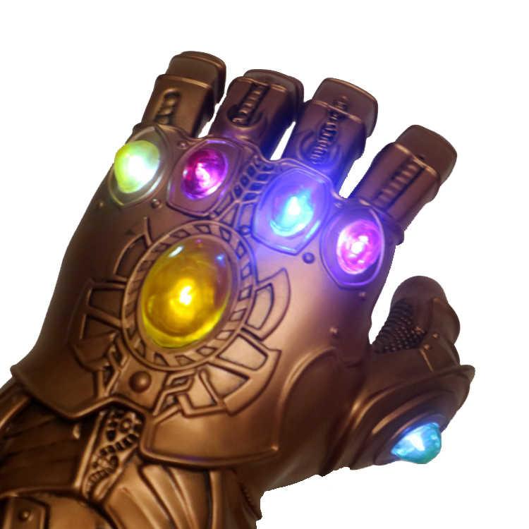 Luz led thanos infinity gauntlet avengers infinito guerra cosplay luvas led pvc figura de ação modelo brinquedos presente dia das bruxas adereços
