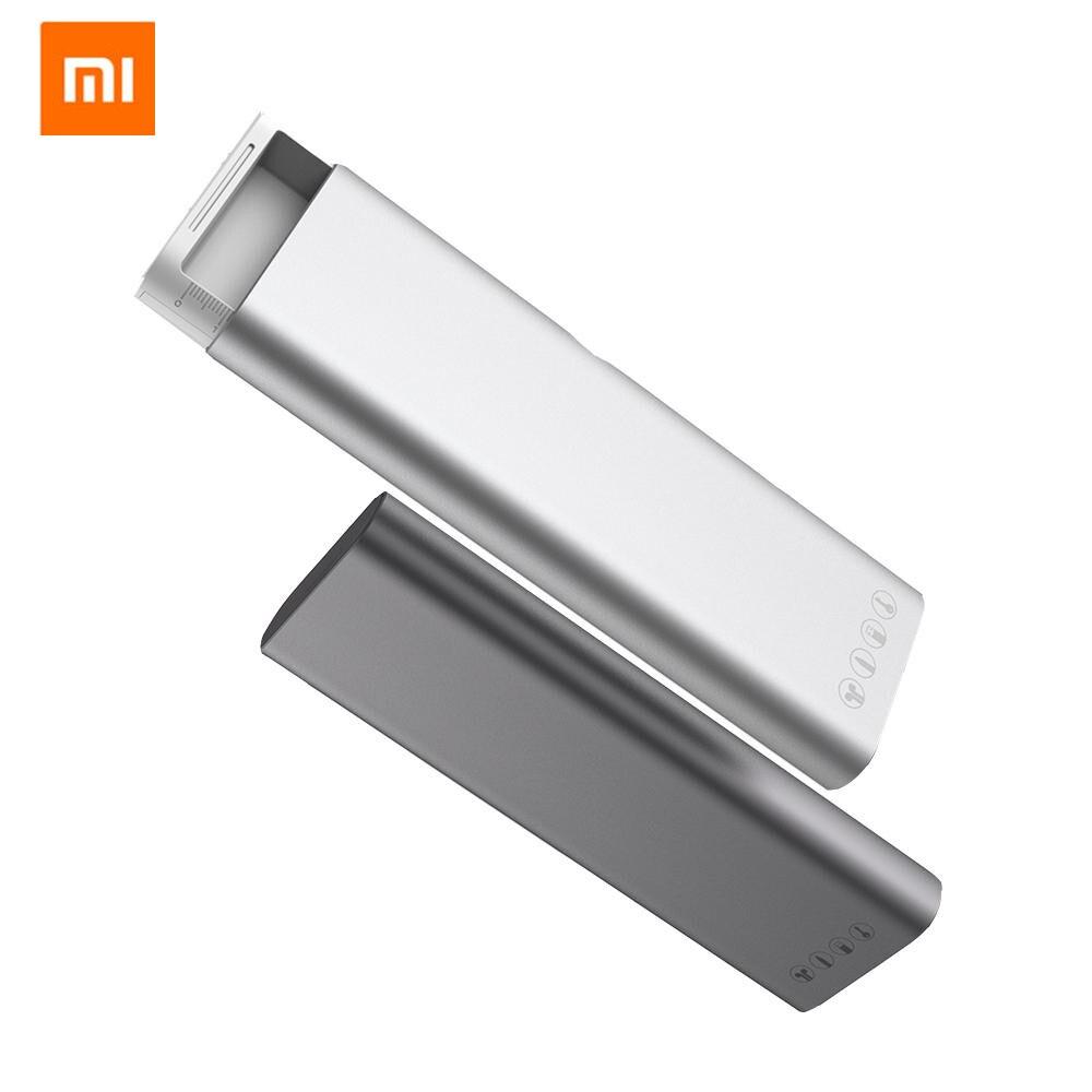 Xiaomi Mijia boîte de papeterie en métal MIIIW Portable porte-crayon écouteurs organisateur de câble en aluminium coquille bouton-poussoir école bureau