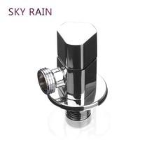 SKY RAIN Bathroom Accessories Brass Angle Valve Chrome Plated High Quality