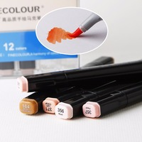 FINECOLOUR3 Painting Art Mark Pen Professional Color Of Skin Alcohol Oy Marker Pen Double Headed Art
