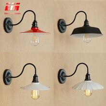 Ретро черный настенный светильник-бра, светильник на гусином крючке, зеркальный светильник s, промышленный настенный светильник, светодиодный винтажный настенный светильник E27 ZBD0019