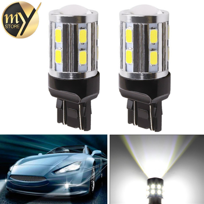2pcs Led car bulb 7443 7440 3157 3156 1156 1157 BA15S BAY15D Xenon White W21/ 5W High power Cree Chips lamp light source parking 2pcs car led bulb 3156 3157 led t25 3156 33smd 5730 white light brake light backup reverse light parking turn signal headlight