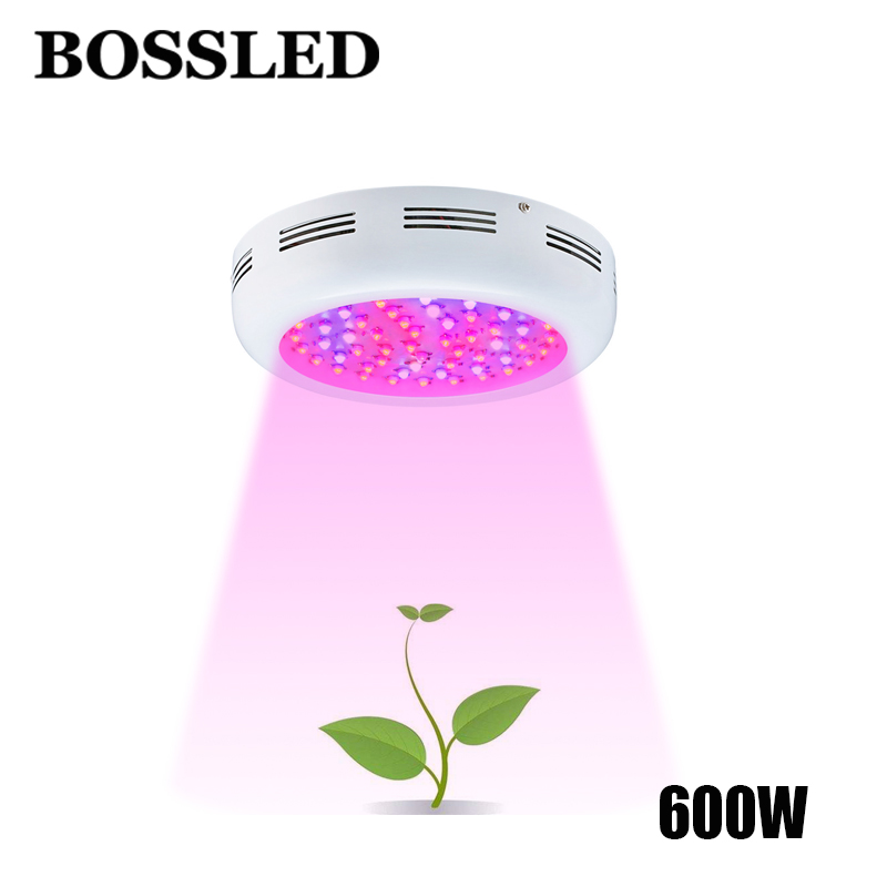 BOSSLED UFO 600W led grow light full spectrum for indoor plants houseplant greenhouse grow box led grow plants led grow light hot 600w double chips 10w led grow light full spectrum led grow lamp for indoor greenhouse plants hydroponic system plants led