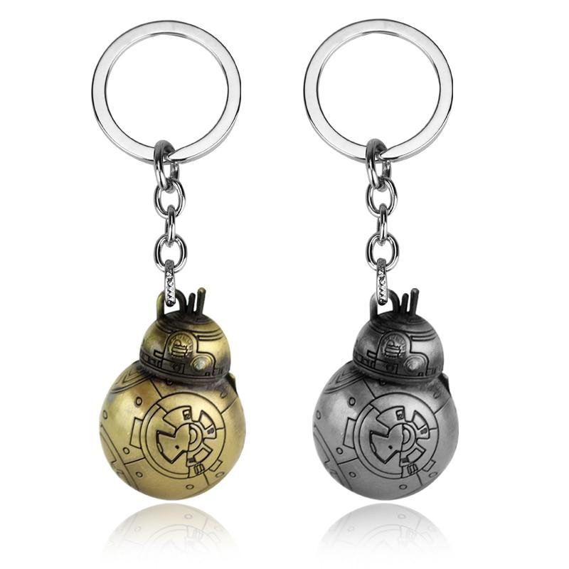 MQCHUN Star Wars Keychain Robot BB-8 BB8 Key Metal Chain Ring Holder Round Men Gift Jewelry Chaveiro Accessories Llaveros Porte