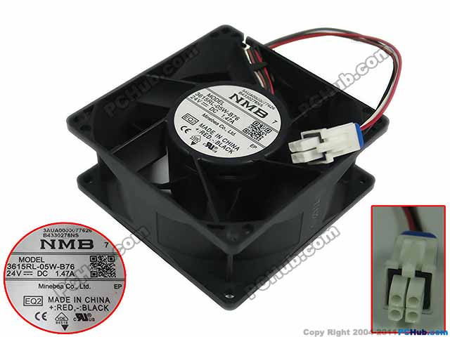 NMB-MAT 3615RL-05W-B76 EQ2 DC 24V 1.47A 90x90x38mm 4-wire Server Square Fan adda 54841l1s fast600epa server laptop fan dc 5v 0 5a 4 wire