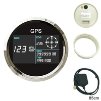 New 85mm Digital GPS Speedometer Total mileage adjustable GPS Blind area Odometer Compensation Spiral Shell